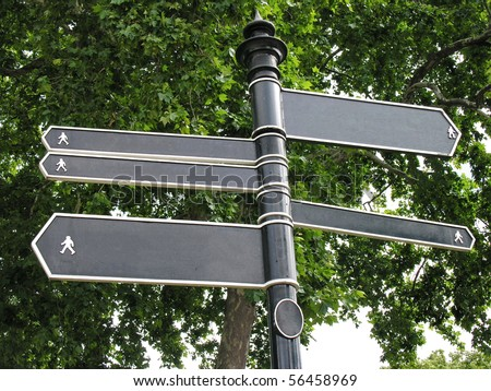 Blank arrow direction for every human use