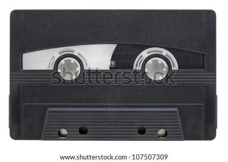 Blank audio cassette tape isolated on white background with clipping path