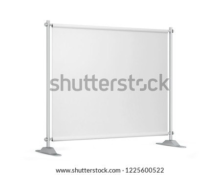 Blank backdrop banner. 3d illustration isolated on white background