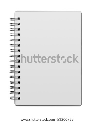blank background. paper spiral notebooks isolated on whit