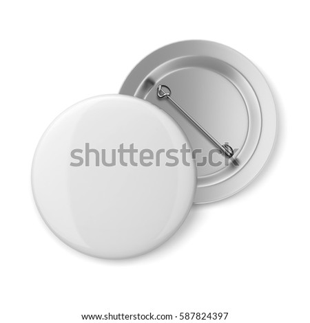 Blank badge. 3d illustration isolated on white background