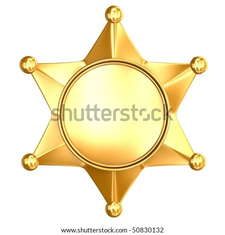 Blank badge star