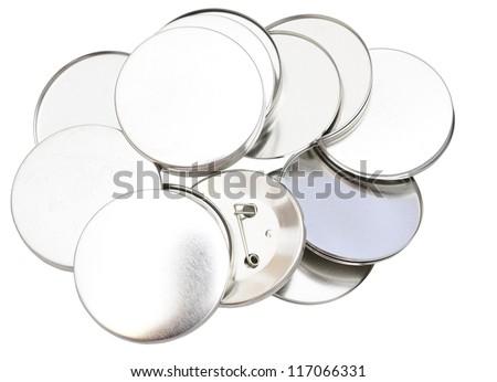 Blank badges isolated on white - stock photo