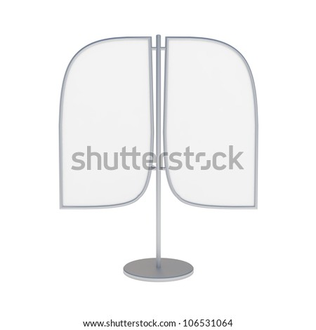 Blank Banner Display isolated on white - 3d illustration