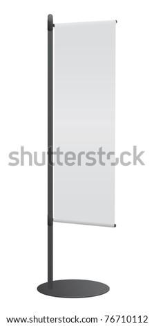 Blank banner japanese flag for designers
