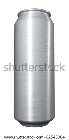 Blank beer can on white background. - stock photo