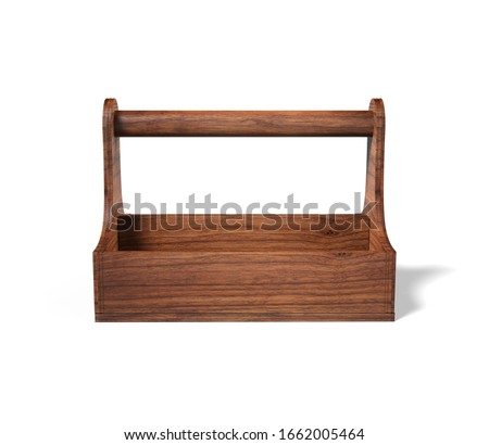 Blank Best Wood Table Caddy  For Branding And Mock up. 3d render illustration. Foto stock ©