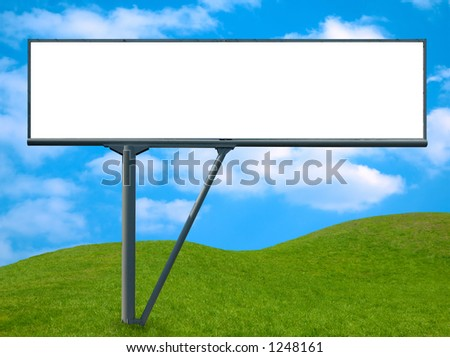 Blank billboard, advertisement banner background