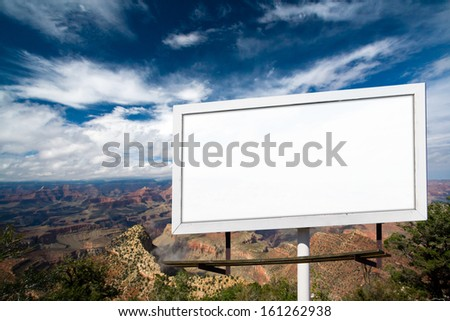 Blank billboard advertising sign at Grand Canyon National Park, Arizona