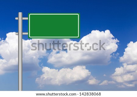 Blank billboard against blue sky background