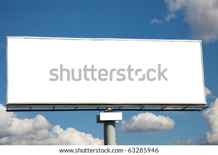 Blank billboard against blue sky for your advertisement