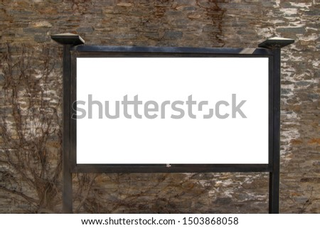 Blank billboard and outdoor advertising. Mock up, template, education, advertisement and text-here concept.