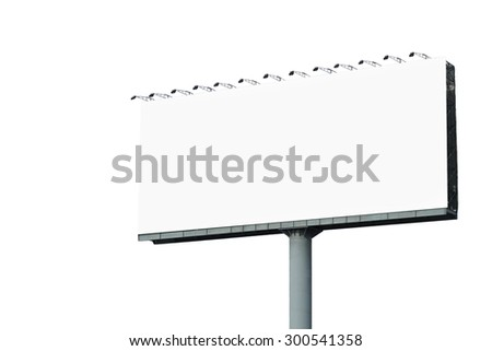blank billboard for advertisement isolated on white background