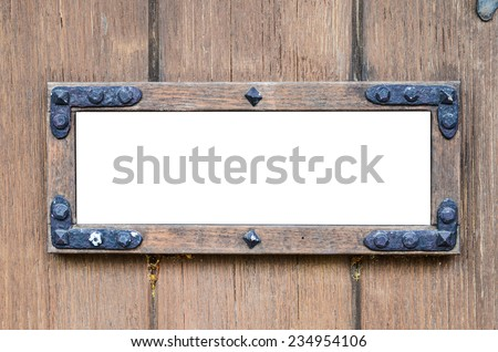 Blank billboard for advertising on wood wall