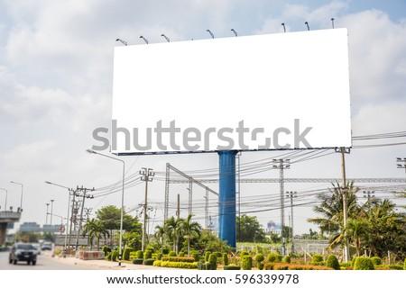 Blank billboard for new advertisement Stock foto ©