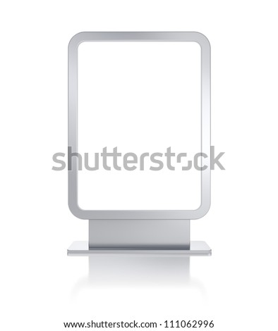 Blank billboard. Image contain clipping path