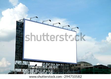 Blank billboard in the city, Thailand