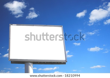 Blank billboard just add your text and beautiful Sky