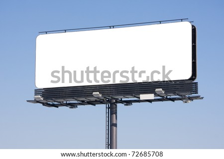 Blank billboard on blue sky ready for your advertisement