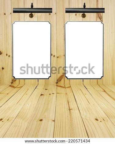 blank billboard on wood Boards background