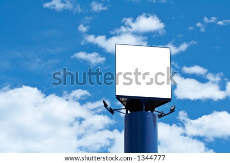 Blank billboard over the blue sky, just add your text