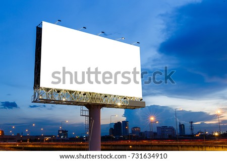Blank billboard ready to use for mockup advertisement, out of home marketing street media