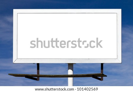 Blank billboard sign with empty background space for your message