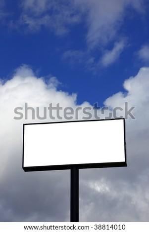 Blank billboard Vertical layout