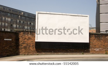 Blank billboard with blank street name plate