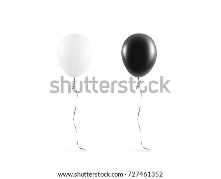 Blank black and white balloon mock up isolated.  #727461352