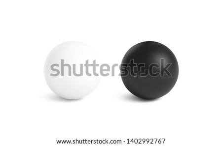 Blank black and white stress ball mockup,front view isolated, 3d rendering. Clear empty stres reliever soft balloon mock up design template. Clean antistress bal. Squeeze it in your hands and soothe. Сток-фото ©