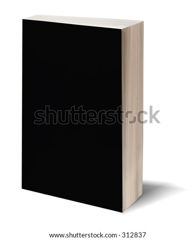 Blank black bookcover with clipping path - perfect to insert your own design