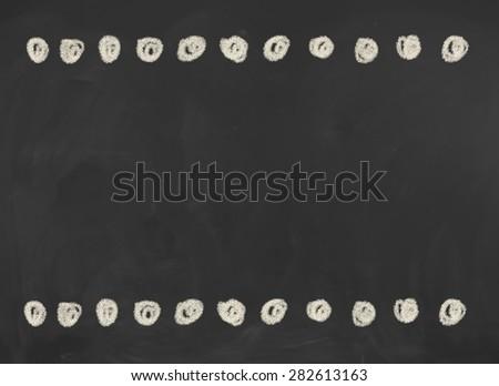 Blank black chalkboard, blackboard texture with copy space.