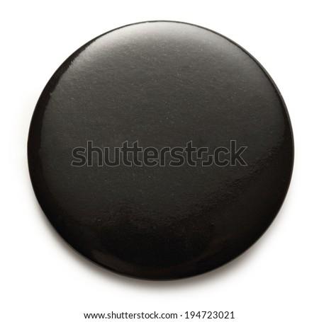 Blank black round badge on white background
