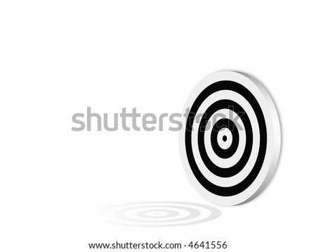 Blank black target, computer generated
