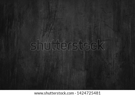 Blank blackboard background with scratches and dust. Detail of scratched chalkboard surface. #1424725481