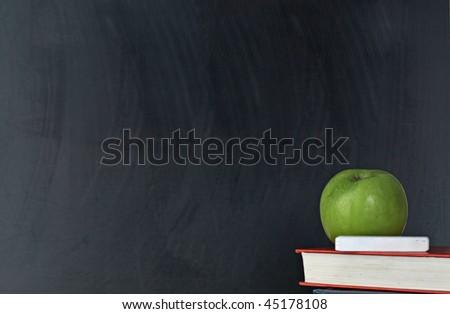 blank blackboard isolated on white background - stock photo