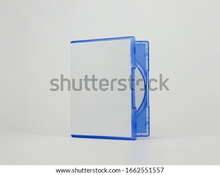 Blank Blu-ray Disc Case Isolated on white background. Blu Ray disc boxe and Blu Ray Disc isolated on white background.