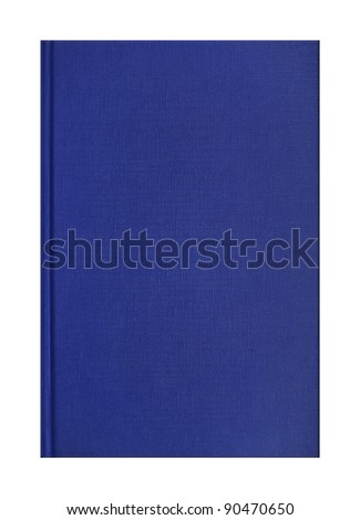 Blank blue book with linen texture