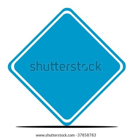Blue Diamond Shaped Logo Blank Blue Diamond Shaped Road