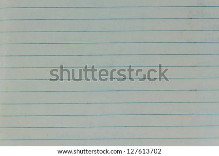 Blank Blue Lined Old Paper,Horizontal Pattern