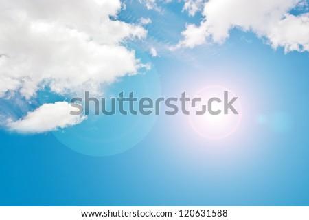 blank blue sky background, blank on blue sky for sample texts , texts box, idea box.