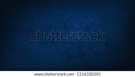 Blank blue texture surface background, dark corners, abstract architecture material