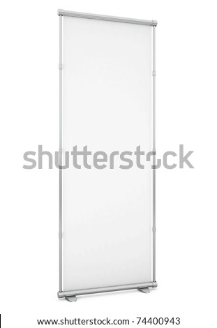 Blank Board isolated on white - 3d illustration