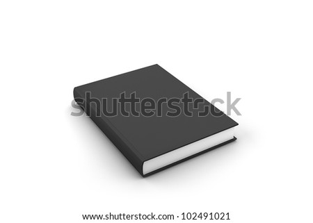 Blank book cover black isolated on white