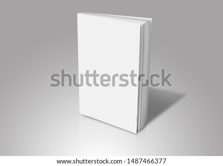 Blank book cover mockup, clean brochure template #1487466377