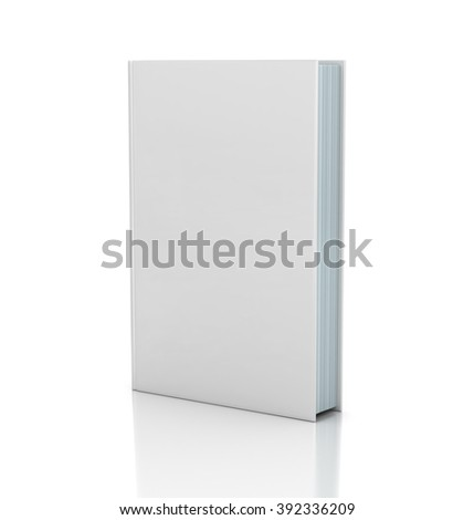 Blank book cover over white background #392336209