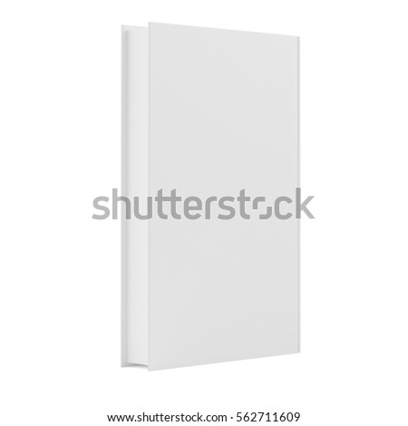 blank book cover template with pages on white background 3d