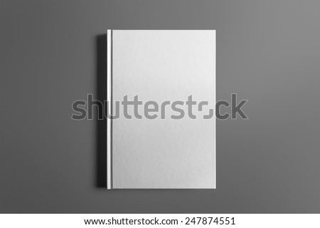 Blank book isolated on grey to replace your design #247874551