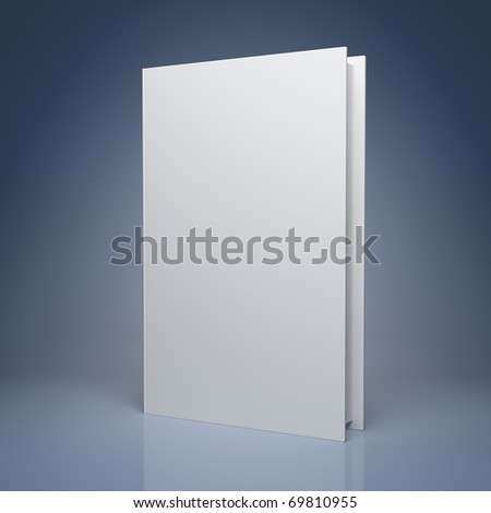 Blank book on blue background - stock photo